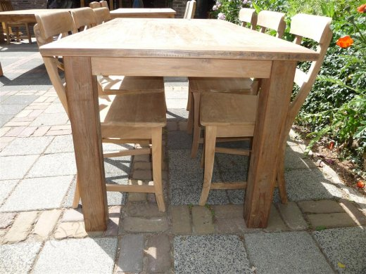 Teak table 180 x 90 cm reclaimed - Picture 2