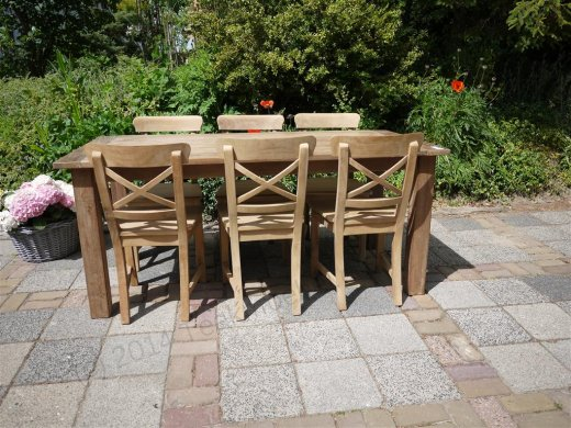 Teak table 180 x 90 cm reclaimed - Picture 5