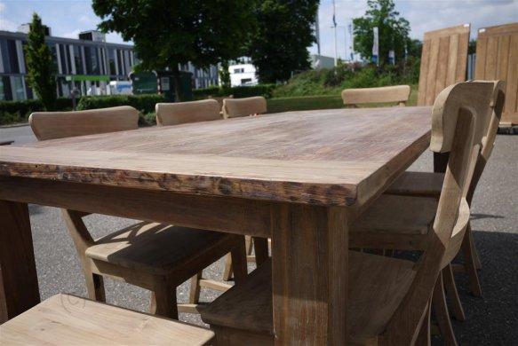 Teak table 200 x 100 cm reclaimed - Picture 13