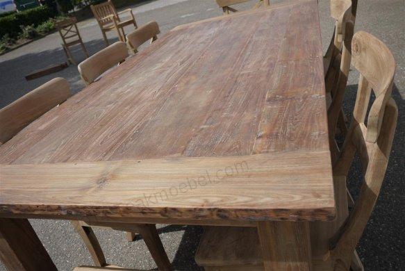 Teak table 200 x 100 cm reclaimed - Picture 14