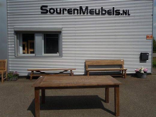 Teak table 200 x 100 cm reclaimed - Picture 10