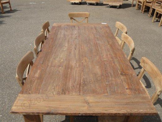 Teak table 200 x 100 cm reclaimed - Picture 6