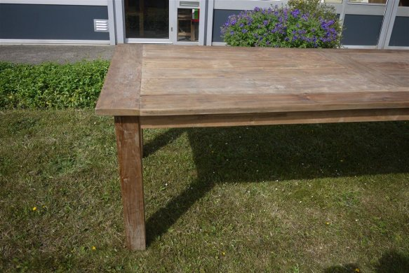 Teak table 260 x 100 cm reclaimed - Picture 5