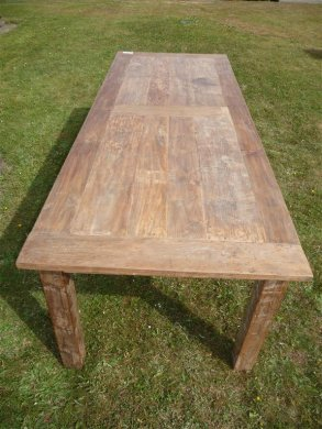 Teak table 260 x 100 cm reclaimed - Picture 6