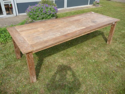 Teak table 260 x 100 cm reclaimed - Picture 4