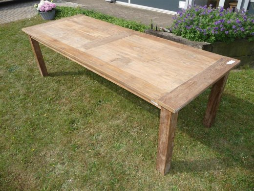 Teak table 260 x 100 cm reclaimed - Picture 0