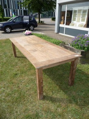 Teak table 260 x 100 cm reclaimed - Picture 1