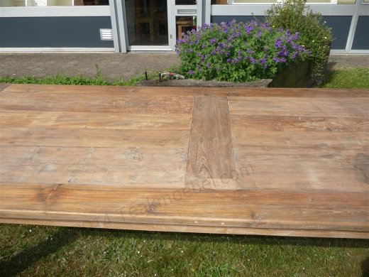 Teak table 260 x 100 cm reclaimed - Picture 2