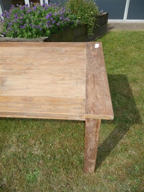 Teak table 260 x 100 cm reclaimed - Picture 3