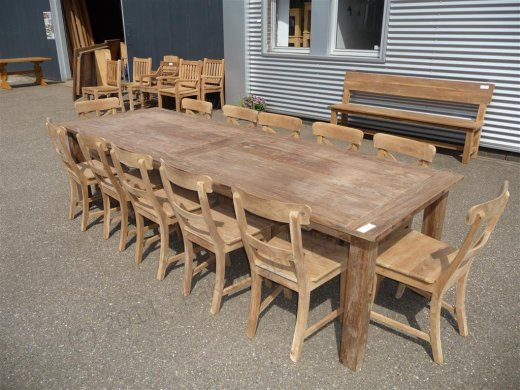 Teak table 300 x 100 cm reclaimed - Picture 11