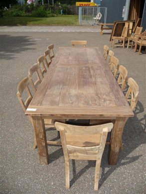 Teak table 300 x 100 cm reclaimed - Picture 12