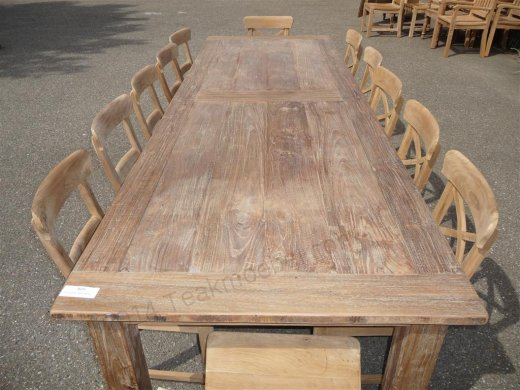 Teak table 300 x 100 cm reclaimed - Picture 4