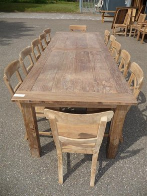 Teak table 300 x 100 cm reclaimed - Picture 5