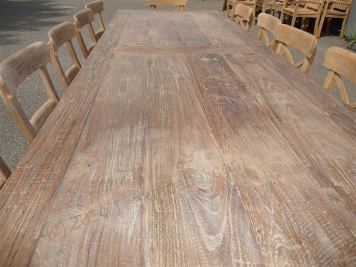 Teak table 300 x 100 cm reclaimed - Picture 6