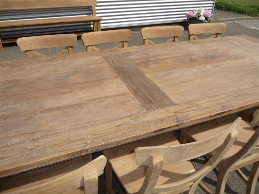 Teak table 300 x 100 cm reclaimed - Picture 7