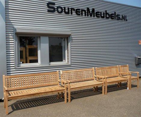 Teak garden bench 130 cm Beaufort - Picture 5