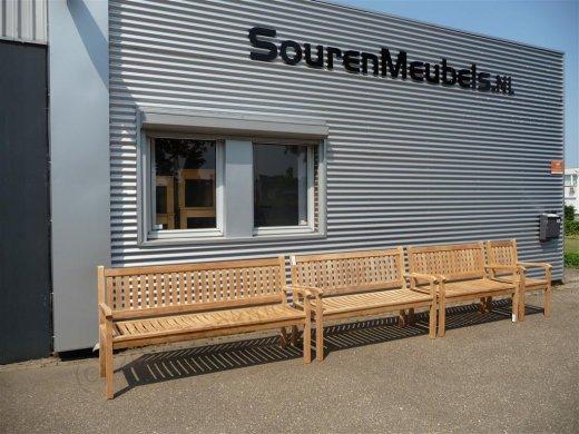 Teak garden bench 150 cm Beaufort - Picture 4