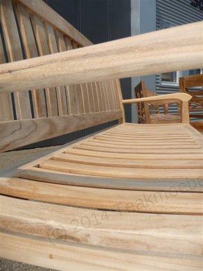 Teak garden bench 180 cm Beaufort - Picture 2