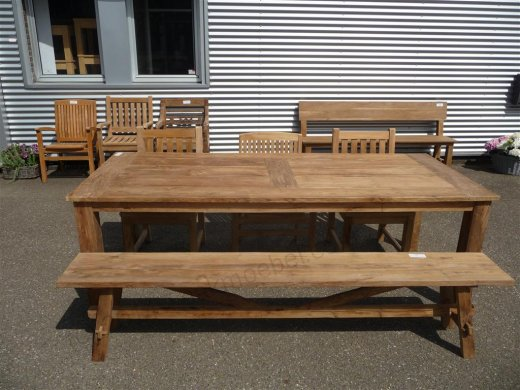 Teak garden table 240 x 100 cm - Picture 9