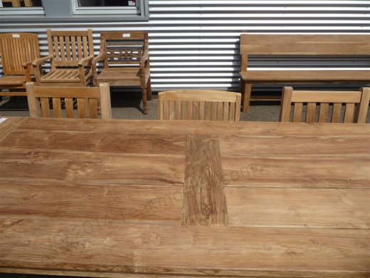 Teak garden table 240 x 100 cm - Picture 7