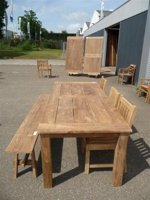 Teak garden table 240 x 100 cm - Picture 8