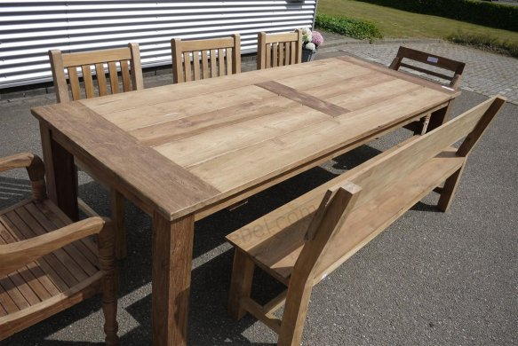 Teak garden table 260 x 100 cm - Picture 0