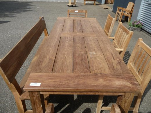 Teak garden table 260 x 100 cm - Picture 4