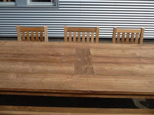 Teak garden table 260 x 100 cm - Picture 1