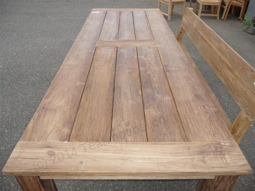 Teak garden table 280 x 100 cm - Picture 0