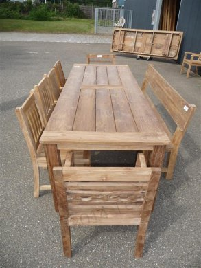 Teak garden table 280 x 100 cm - Picture 4