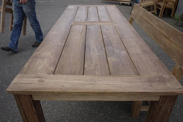 Teak garden table 280 x 100 cm - Picture 3