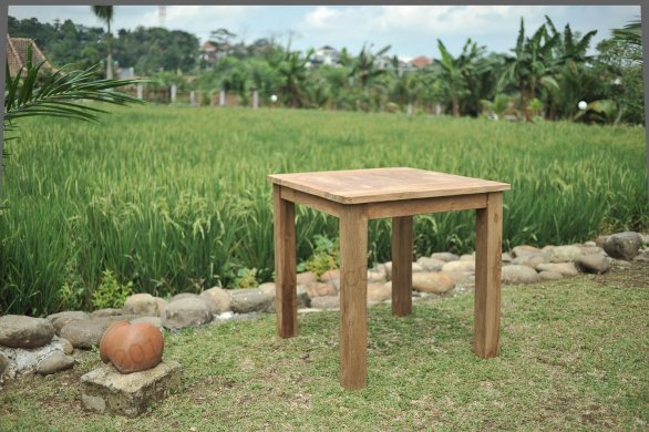Teak garden table 100 x 100 - Picture 1