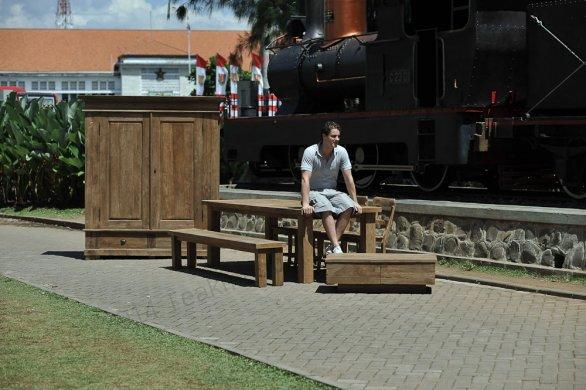 Teak table London 200x100cm - Picture 10