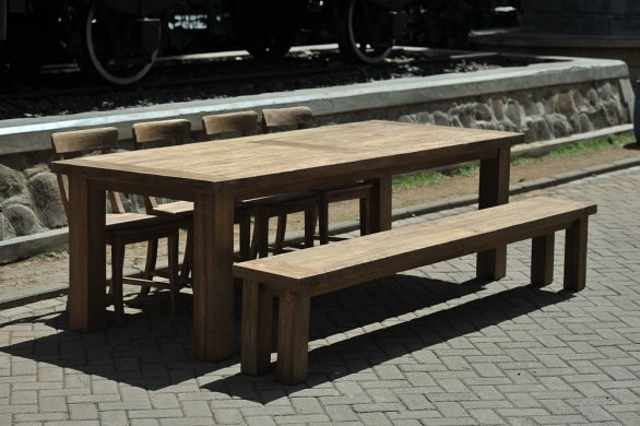 Teak table London 175x100cm - Picture 8