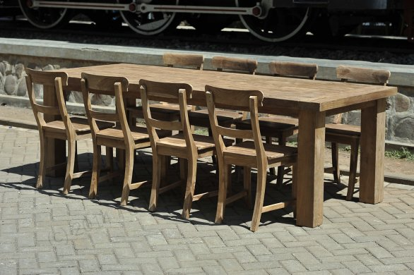 Teak table London 350x100cm - Picture 9