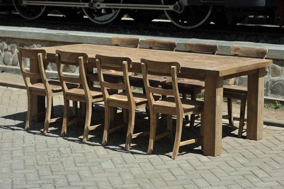 Teak table London 200x100cm - Picture 12