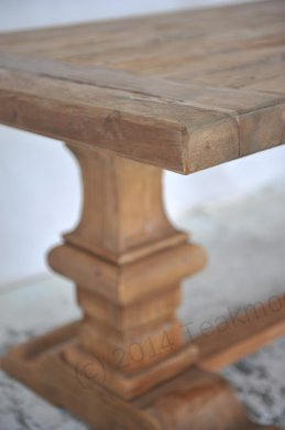 Teak refectory table 220x100cm - Picture 6