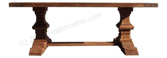 Teak refectory table 200x100cm - Picture 1