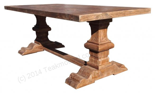 Teak refectory table 200x100cm - Picture 0