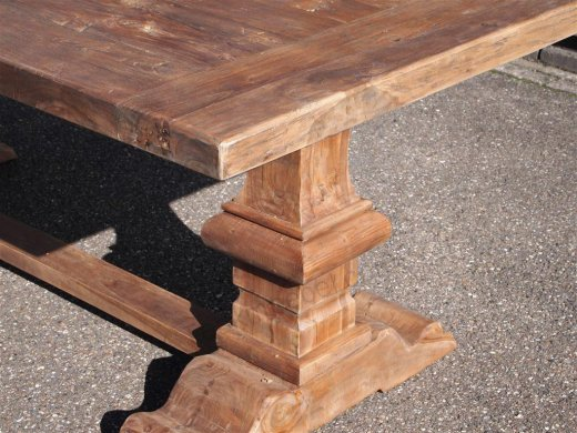 Teak refectory table 200x100cm - Picture 8