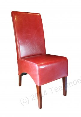 Leather Chair Red - Picture 2