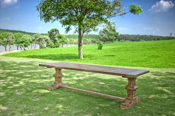 Outdoor refectory table 300 x 100 - Picture 1