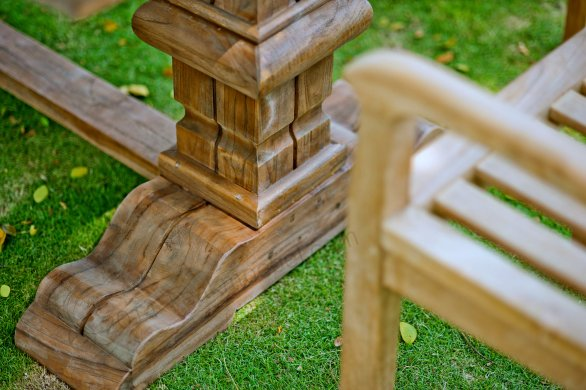 Outdoor refectory table 300 x 100 - Picture 3