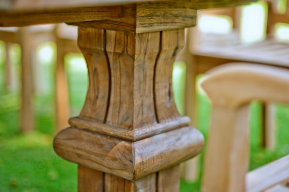 Outdoor refectory table 300 x 100 - Picture 4