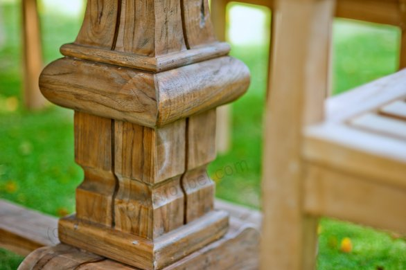 Outdoor refectory table 300 x 100 - Picture 6
