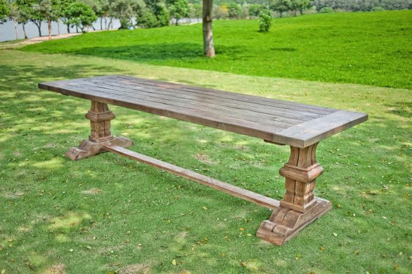 Outdoor refectory table 200 x 100 - Picture 0