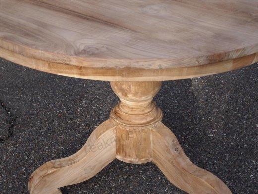 Round teak table Ø 110 cm - Picture 2