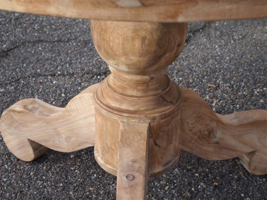 Round teak table Ø 110 cm - Picture 1