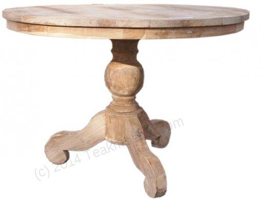 Round teak table Ø 110 cm - Picture 0