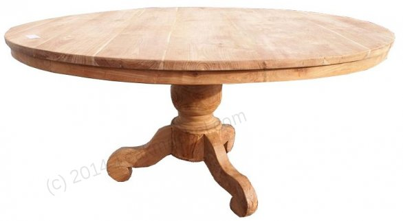 Round teak table Ø 160 cm - Picture 0
